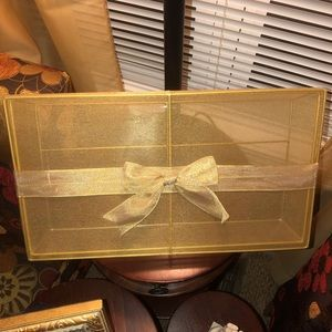 Preloved Gold Mesh Box with Bow